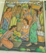 Bali Original Oil Painting--Traditional Bali Scenery 2-