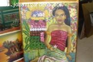 Happy lady Bali (Original oil painting)