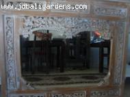 Teak carved mirror